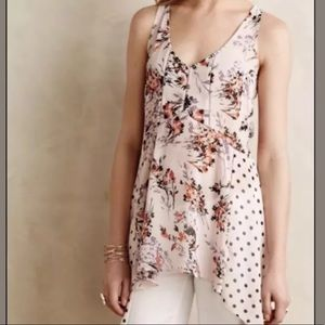 Anthropologie Vanessa Virginia Pop Floral Tank M
